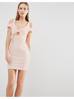 OH MY LOVE Mini Bodycon Dress With Bow Front