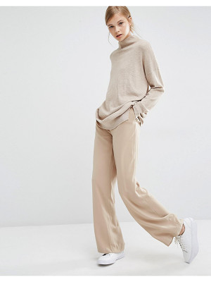 PAISIE Wide Leg Pants With High Waist And Side Pockets