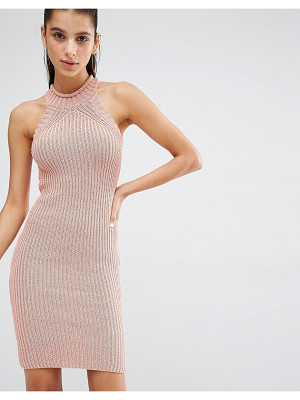 Parallel Lines High Neck Knitted Mini Dress