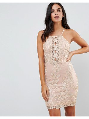 Parisian Embroidered Metallic Dress