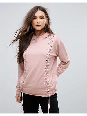 PARISIAN Lace Up Detail Sweat