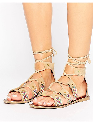 PARK LANE Beaded Lace Up Sandal