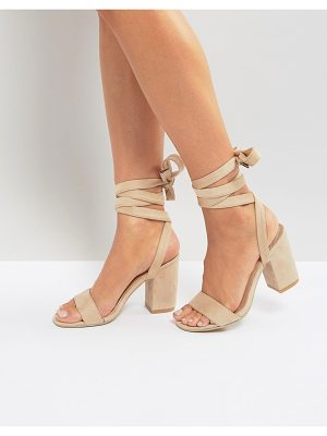 Park Lane tie ankle block heel sandals