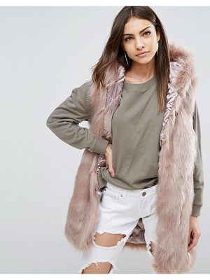 PARKA LONDON Phoeve Hooded Faux Fur Vest