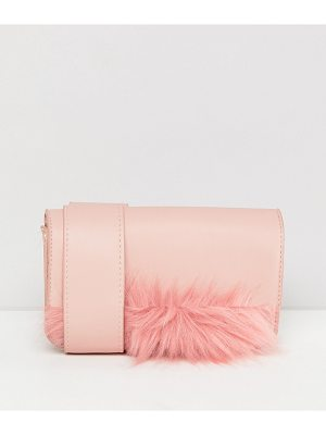 PIECES Cross Body Bag With Fluff Detail