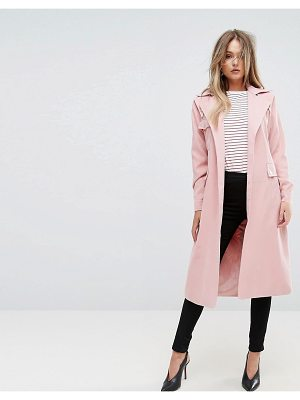 PrettyLittleThing Belted Trench