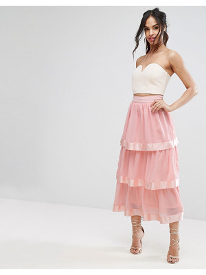 PRETTYLITTLETHING Tiered Maxi Skirt