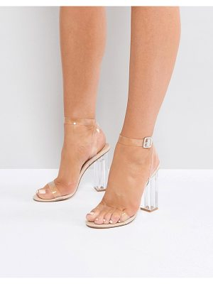 Public Desire alia clear heeled sandals