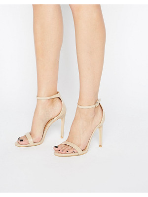 PUBLIC DESIRE Avril Beige Barely There Heeled Sandals