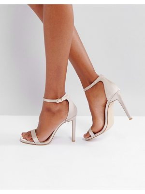 PUBLIC DESIRE Avril Satin Barely There Heeled Sandals