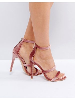 PUBLIC DESIRE Dusty Pink Heeled Sandals