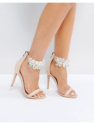 Public Desire Galaxy Embellished Ankle Heeled Sandals