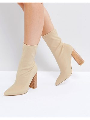 PUBLIC DESIRE Libby High Heeled Sock Boots