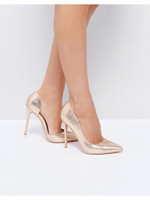 PUBLIC DESIRE Margi Rose Gold Heeled Shoes