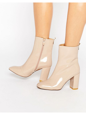 PUBLIC DESIRE Ramona Square Toe Heeled Ankle Boots