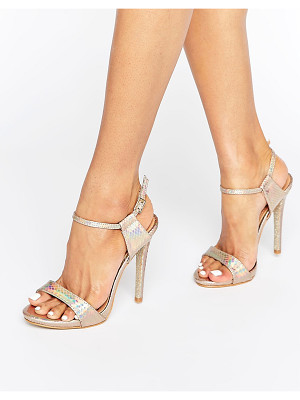 PUBLIC DESIRE Riya Gold Holographic Heeled Sandals