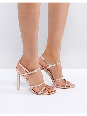 PUBLIC DESIRE Rose Gold Heeled Sandals