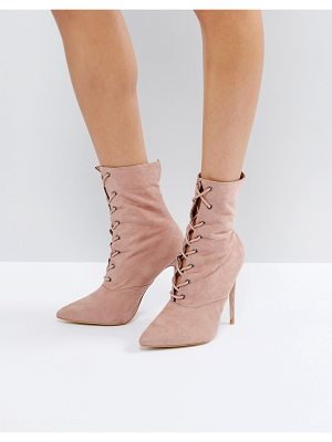 PUBLIC DESIRE Spectrum Paperbag Lace Up Ankle Boots