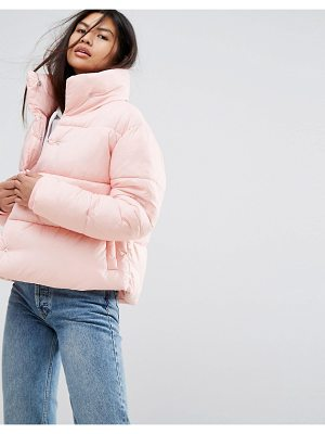 PUFFA Oversized Jacket With Wrap Collar