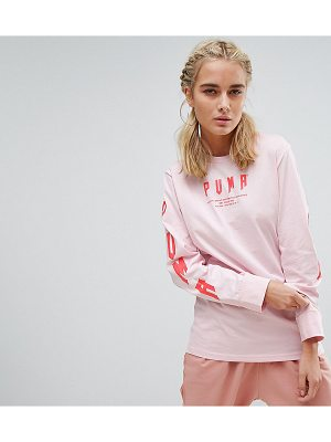 PUMA Exclusive To Asos Oversized Long Sleeve T-Shirt In Pink