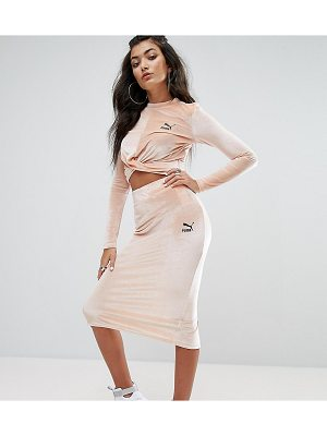 PUMA Exclusive To Asos Velvet Bodycon Skirt