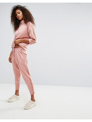 PUMA High Waisted Sweat Pant With Sheer Panelling