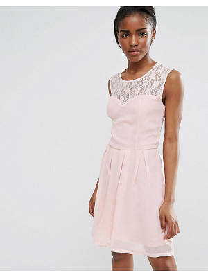 Pussycat London Lattice Detail Skater Dress