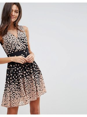 PUSSYCAT LONDON Polka Dot Skater Dress With Tie Waist