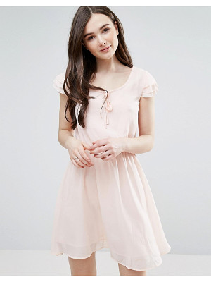 Pussycat London Skater Dress With Tie Detail