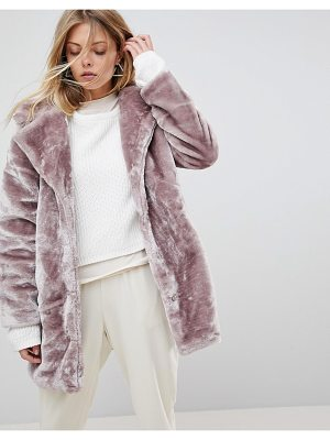 QED London Faux Fur Coat
