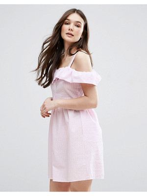 QED LONDON Frill Detail Skater Dress