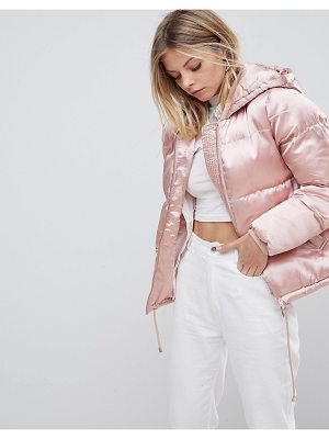 QED London Satin Padded Jacket