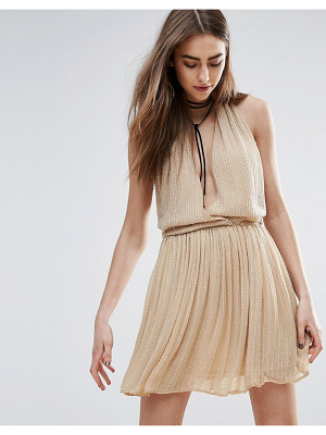 RAGA Be Mine Embellished Mini Dress In Nude