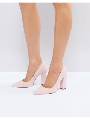 RAID Raid Delora Blush Pointed Block Heeled Shoes