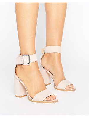 RAID Raid Marina Dusty Pink Mid Block Heeled Sandals