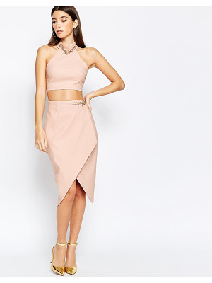 Rare London Asymmetric Midi Skirt With Chain Detail