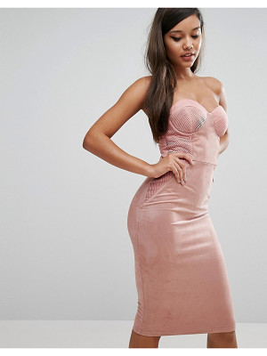 RARE Sweetheart Pencil Dress With Corset Detail