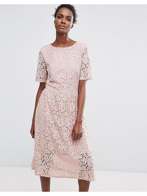 Selected Rose Lace Dress