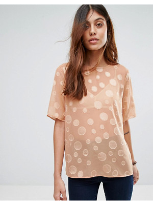 SELECTED Valera Sheer Dot Shirt