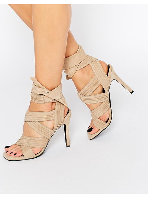 SENSO Samantha Sand Suede Bow Heeled Sandals