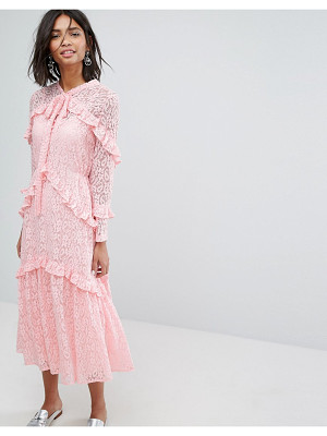 SISTER JANE Sister Jane Lace Midi Dress