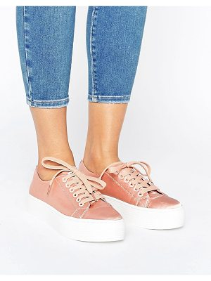 SIXTY SEVEN Sixtyseven Flatform Satin Laceup Sneaker