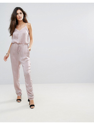 Soaked in Luxury Soaked In Luxury Silky Drawstring Jumpsuit