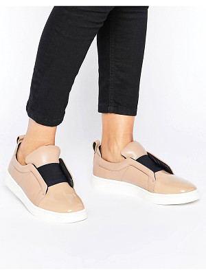 Sol Sana Mickey Nude Patent Leather Slip On Sneakers
