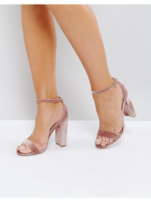 Steve Madden Carrson Blush Velvet Barely There Sandals