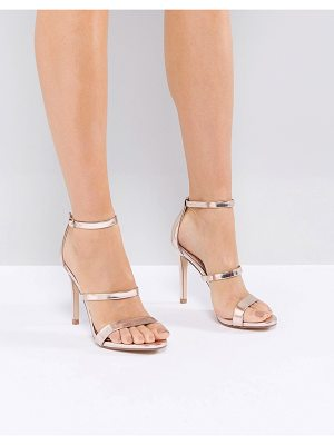 Steve Madden Sheena Rose Gold Barely There Heeled Sandals