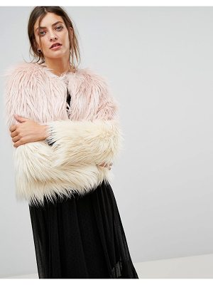 STRADIVARIUS Faux Fur Jacket