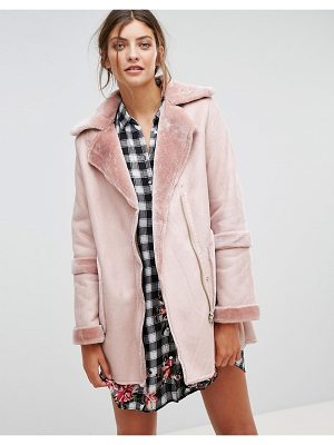 Stradivarius Faux Shearling Jacket