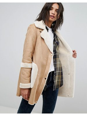 Stradivarius shearling jacket