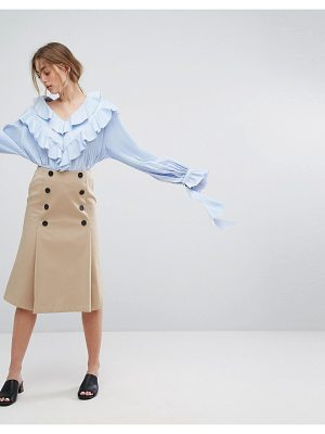 STYLE MAFIA Double Buttoned Skirt